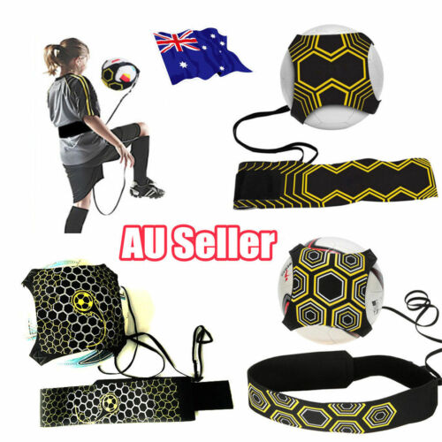Football Kick Trainer Skill Soccer Training Equipment Adjustable Waist Belt MN