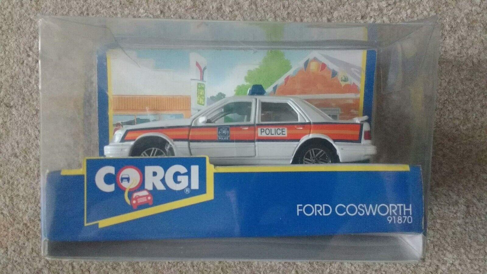 Corgi Diecast Car Ford Sierra Cosworth Police Car New Boxed