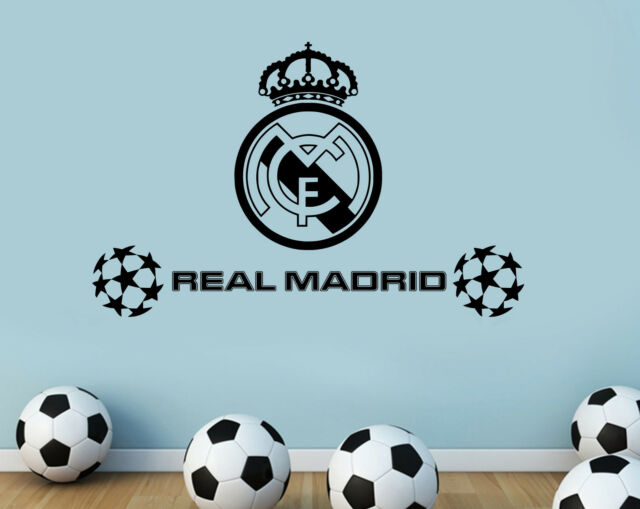 real madrid fc football club wall stickers home decor mural art