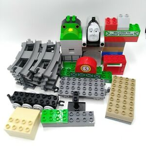 Lego-Duplo-Train-Lot-43-Pcs-Gray-Track-Thomas-Part-Spencer-Percy-Trucks-Waterton