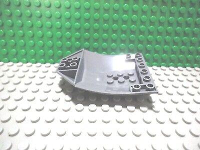 Lego 1 Dark Bluish Gray 8x6 wedge plate wing with lattice shuttle ship plane NEW