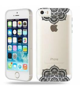 Détails sur Coque Iphone 5 5S SE mandala double noir
