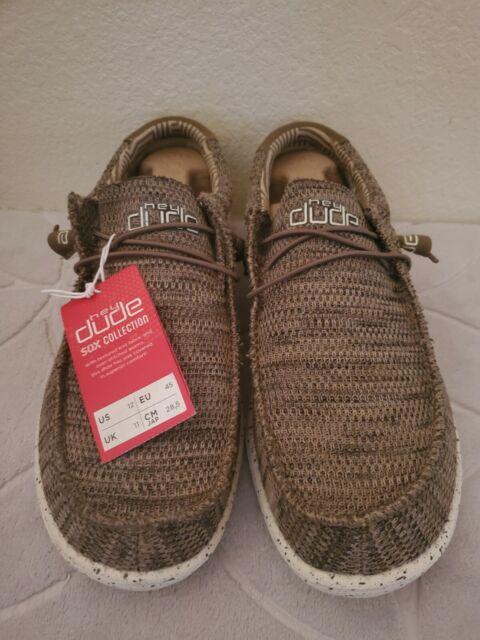 Hey Dude Men's Wally Sox Brown Shoes 110351500 sz Us 12