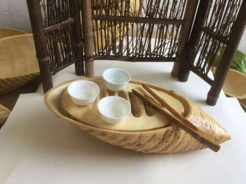 tea sets 天然竹制根雕工艺品茶具 茶盘 Natural bamboo root carving crafts tea tray coffee tray