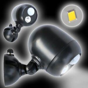 LED Außenstrahler GRUNDIG Bewegungsmelde<wbr/>r Batteriebetrie<wbr/>b Lampe Leuchte Licht