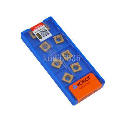 Details about  /10PCS CCMT09T304-HMP KORLOY NC6210 CNC blade NEW IN one BOX