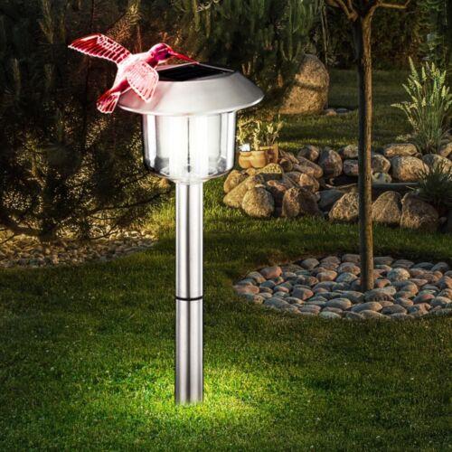 Solaire Extérieur Lampe LED Jardin étang Outdoor stand debout Fourre-Lampe éclairage