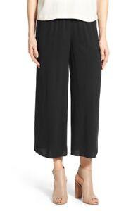 Pants 2x Wide Ikonerne Nwt Crepe Black Sz Fisher Leg Eileen Silk adwA1z