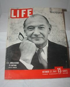 LIFE-Magazine-October-27-1947-US-Ambassador-to-Britain-Louis-W-Douglas-Great-Ads