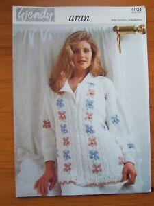 "Mittens and Scarf 32-42/""   644 Hat Ladies Aran Knitting Pattern Cardigan"