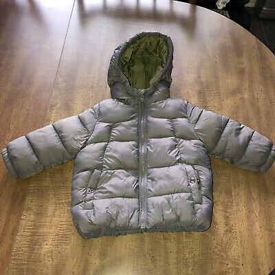 Zara Baby Boy Outerwear Gray Lined Puffer Jacket Winter ...