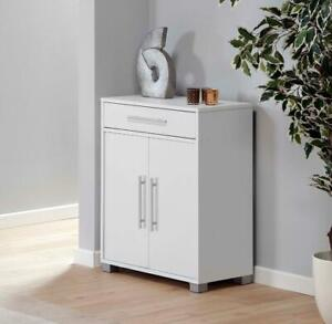 Sorento-White-Storage-Cabinet-2-Door-Cupboard-Multi-Purpose-With-Internal-Shelf