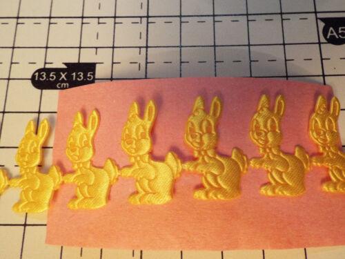 1 M-Amarillo conejos Apliques Raso Corsé Cinta-recorte tarjeta de Arte Decoración