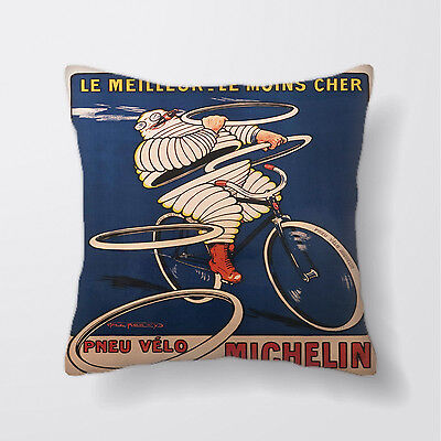 michelin man Tire Bike Cushion Covers Pillow Cases Home Decor or Inner