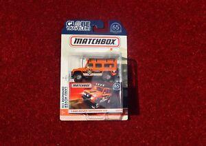 Matchbox-Land-Rover-Defender-110-Naranja-65th-aniversario-Coche-Modelo-de-juguete