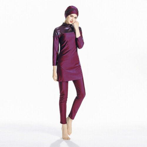 Frauen Burkini Muslim Bademode Badeanzug Beachwear islamischen Full Cover Suit