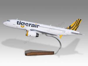 Models Shop For Cheap Airbus 320 Tigerair Tiger Air Mahogany Wood Handmade Desktop Airplane Model