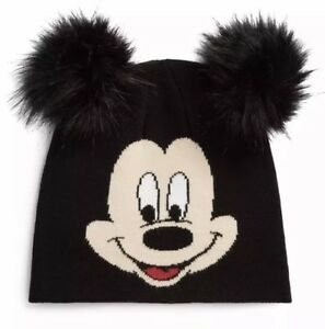 7bfac819 Disney Mickey Mouse Beanie Hat Bobble Pom Pom Ears Genuine Primark ...