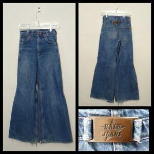 100% Wahr Hash Schnalle Zurück Jeans Damen Meas. 25x30 Kein Tag Weites Bein Inv #f4758 Modern Und Elegant In Mode