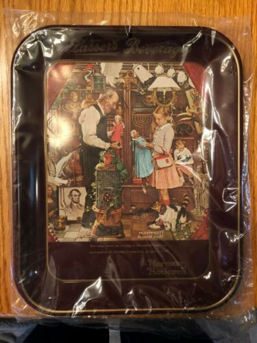 """Normal Rockwell 1976 /""""April Fools Day/"""" Collectors Tray"""