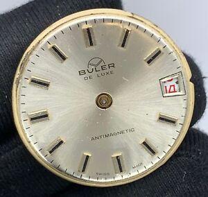 Buler-Du-Luxe-Main-Manuel-Vintage-28-9-mm-Pas-Fonctionne-pour-Pieces