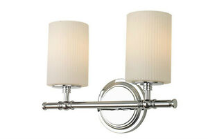Led Wall Sconce Light Fixtures : Modern 2-Light Vanity Fixture Bathroom Wall Sconce Lamp Opal Glass Hanging Shade eBay
