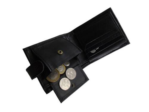 Men/'S Tri Fold con Texture in pelle Portafoglio ID Card Holder nota caso RFID Blocco di prova