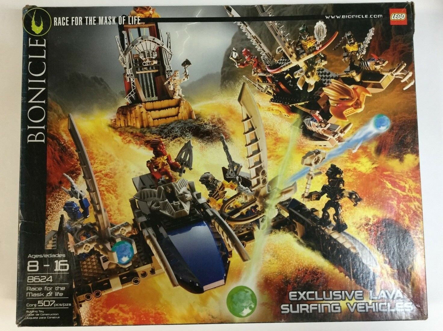 LEGO Bionicle  8624  Race for the Mask of Life  100% with  instructions and box
