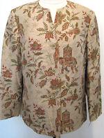 Talbots Multi Colored Pure Sik Designer Jacket Size Petite 10,nwt $ 168.00