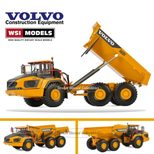 1//50 VOLVO CONSTRUCTION A60H ARTICULATED HAULER TRUCK DIECAST WSI MODELS 61-2000