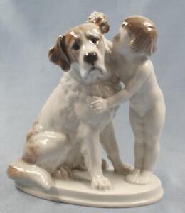 Bernhardiner porzellanfigur porzellan figur hund hundefigur