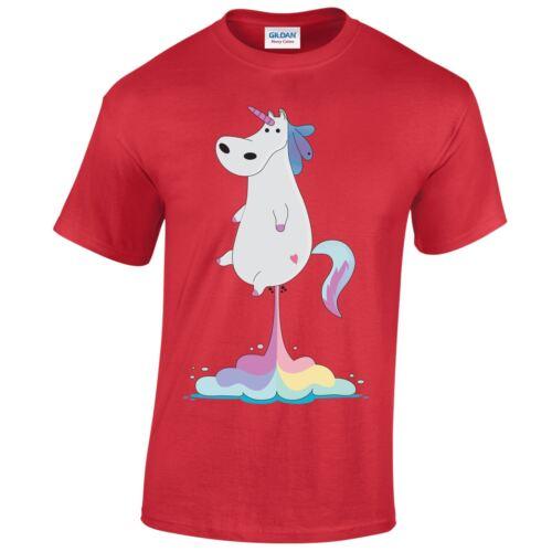 Christmas Mens Kids GIFT XMAS Family Tshirt Top Present Funny Fart Unicorn