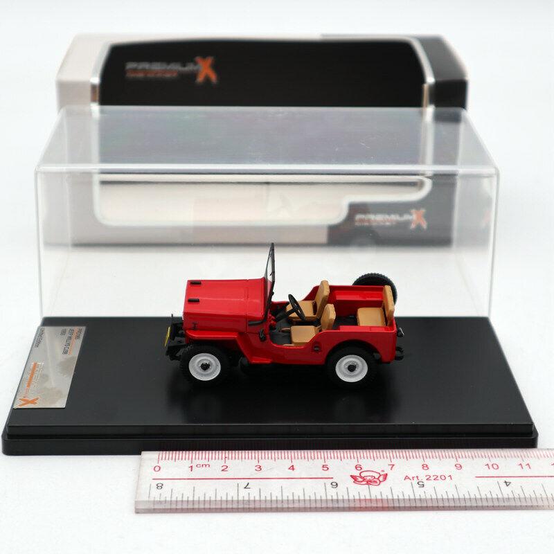 Premium X 1 43 Jeep Willys CJ3B 1953 Red PRD365 Diecast Models Limited Edition