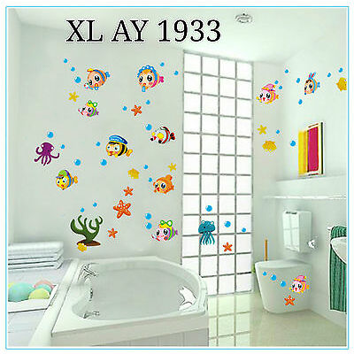 Buy 1 Get 2 Wall Stickers free Wall Decals Fish kids Wall sticker Deal 1933