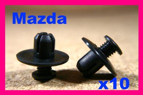 For MAZDA 10 splash guard trim clips wheel arch fastener mud flap guard