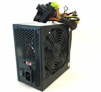 650W 20+4-pin ATX Power Supply w/SATA, PCIe & Large 120mm Cooling Fan Quiet