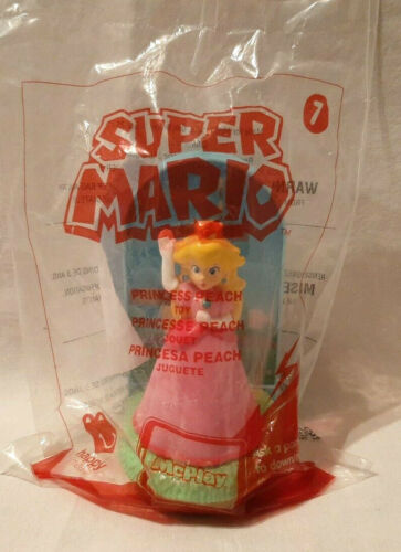 2017 MCDONALDS SUPER MARIO HAPPY MEAL TOY #7 PRINCESS PEACH NEW IN BAG