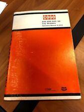 Case 600 800 825 Sk Log Skidders Loader Tractor Operators Manual