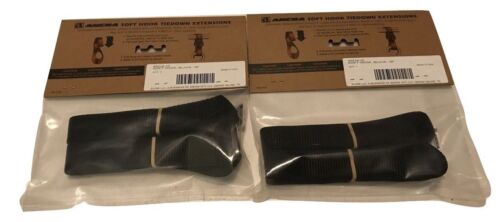 """4 Ancra Tiedowns 18/"""" Soft Touch-Tie Down Extension Black Motorcycle ATV 4 Pack"""
