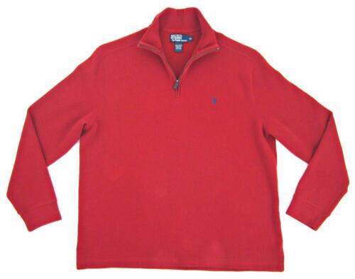 Ralph a Xl maniche Red Zip con Pullover polo in a e Sz collo cotone da costine uomo 1 lunghe 2 Lauren Rw1qSC4