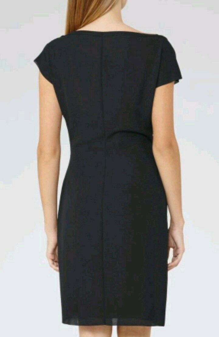 Designer REISS Baye chain detail detail detail dress Size 6 --BRAND NEW-knee length navy 917d2f