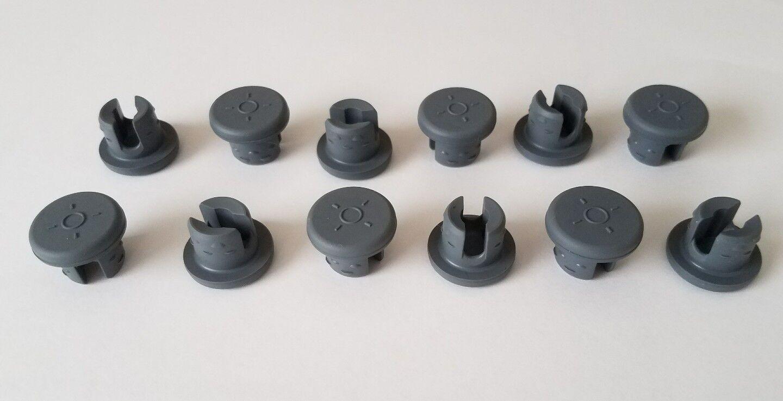 (16) 2-Leg Rubber Stoppers Self Healing Injection Ports Mushroom Spawn Jar