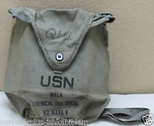WWII US NAVY Gray MARK V ND Canvas BAG Good Grade used complete each E140