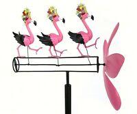 Dancing Flamingos Whirligig Blue Handworks Free Shipping