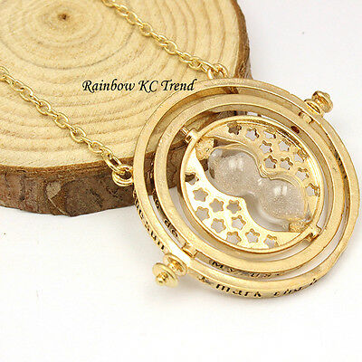 Harry Potter Time-Turner Pendant Necklace 18K Gold Plated/Tone C1