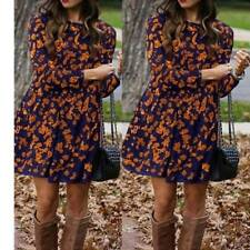 f558926712 item 3 UK Womens Floral Long Sleeve Dress Ladies Winter Casual Holiday Midi  Dresses Top -UK Womens Floral Long Sleeve Dress Ladies Winter Casual  Holiday ...