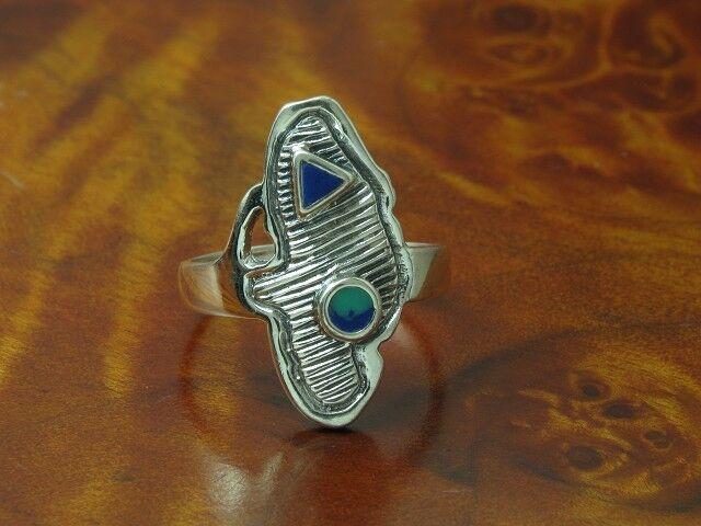 925 Sterling silver Ring mit Kunstmasse Besatz   Echtsilver   RG 53   3,8g