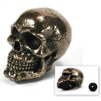 Skull Stick Shift Knob Gear Bronze Resin Skeleton Goth Lever Car Truck Biker
