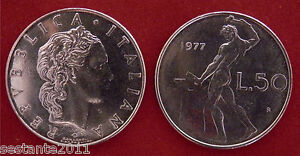 C25 Italy Italia Repubblica Italiana 50 Lire 1977 Km 95.1 Fdc / Unc Imt6okkt-07233744-162687839