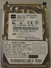 "Toshiba MK2017GAP HDD2158 20GB 2.5"" IDE Drive 9 Instock Tested Good Free US Ship"